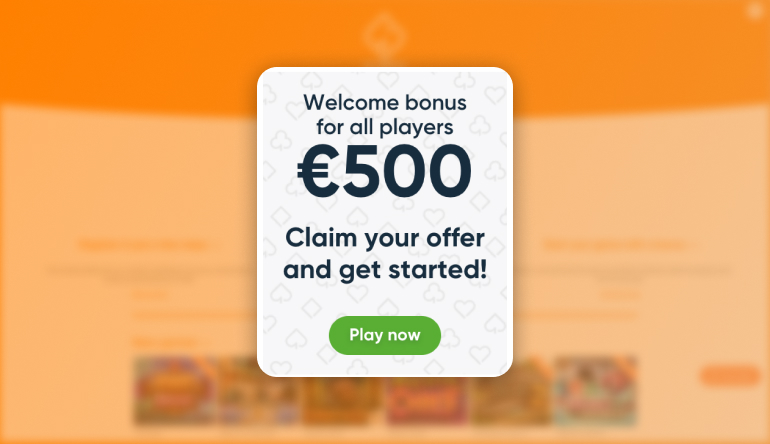 Welcome offer at simple casino