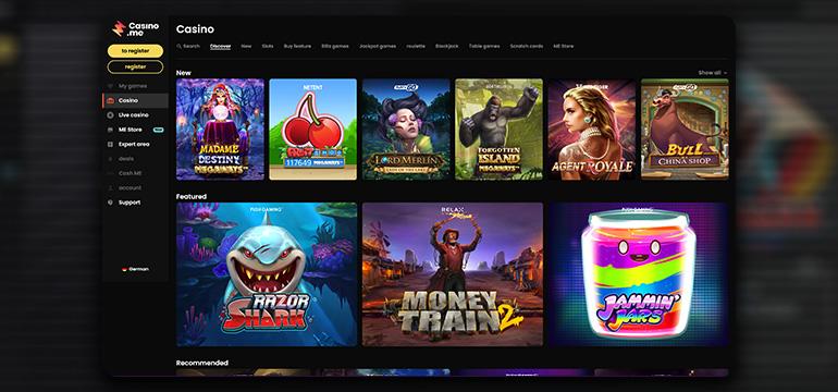 What Casino Games do I find at Casino.me Casino?