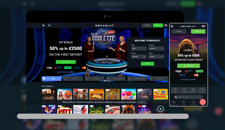 Megaslot casino on different devices