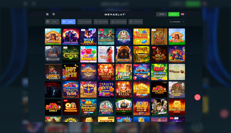 What Casino Games do I find at MegaSlot Casino?