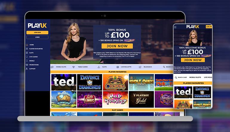 PlayUK casino Review and bonus information
