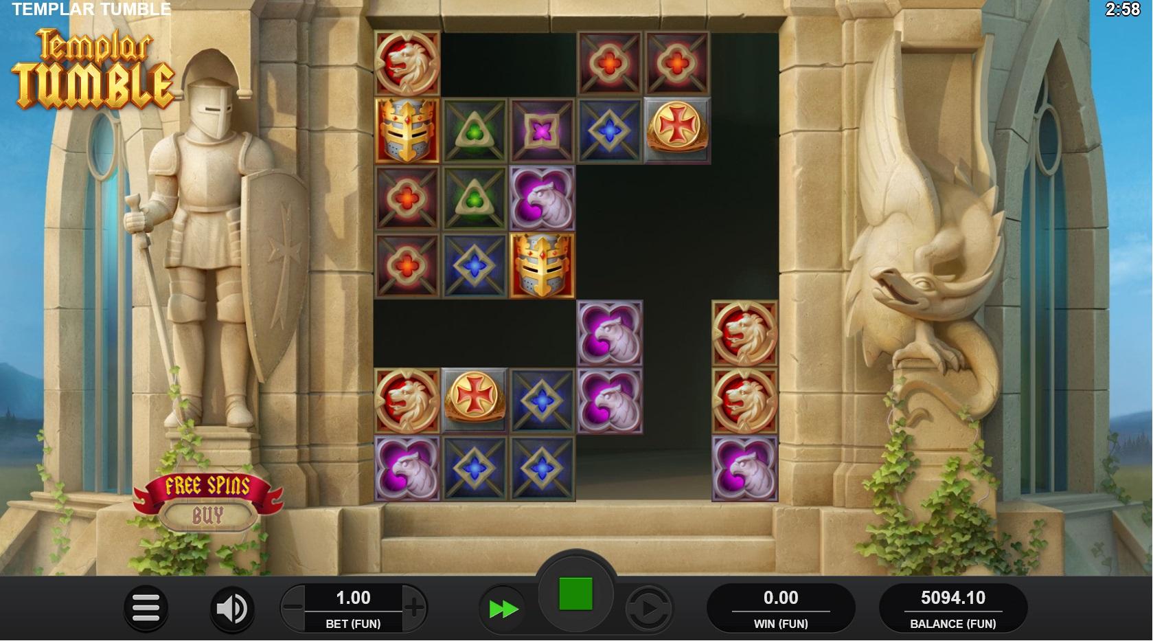 Templar Tumble trigger free spins