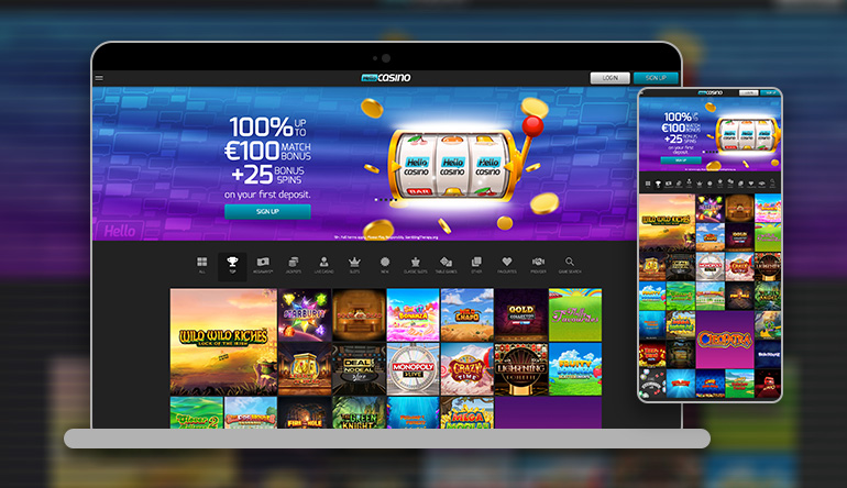 Hello Casino on different devices