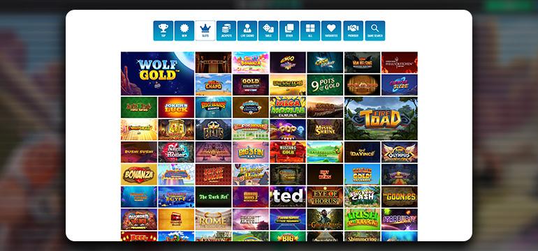 The Slotnite Casino Game Lobby