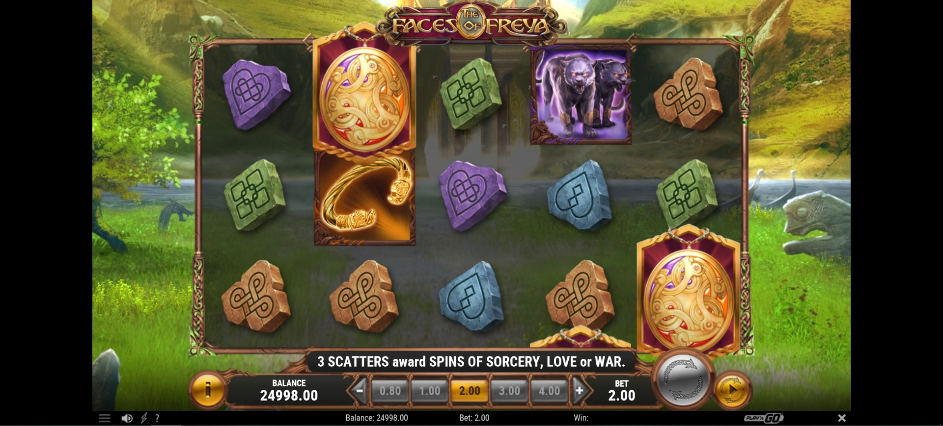 The Faces of Freya Slot Main Game