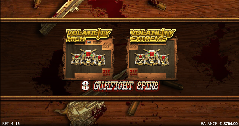 gunfight spins triggered