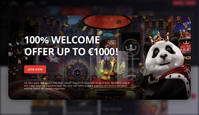 royal panda bonus offer