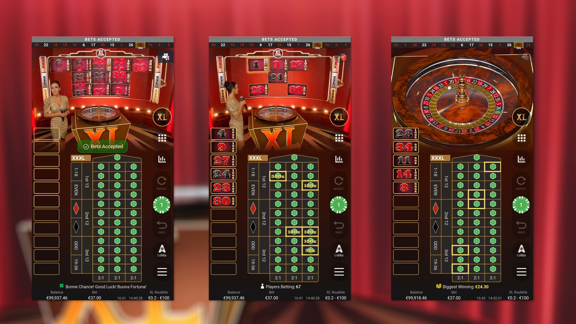 How to play XL Roulette