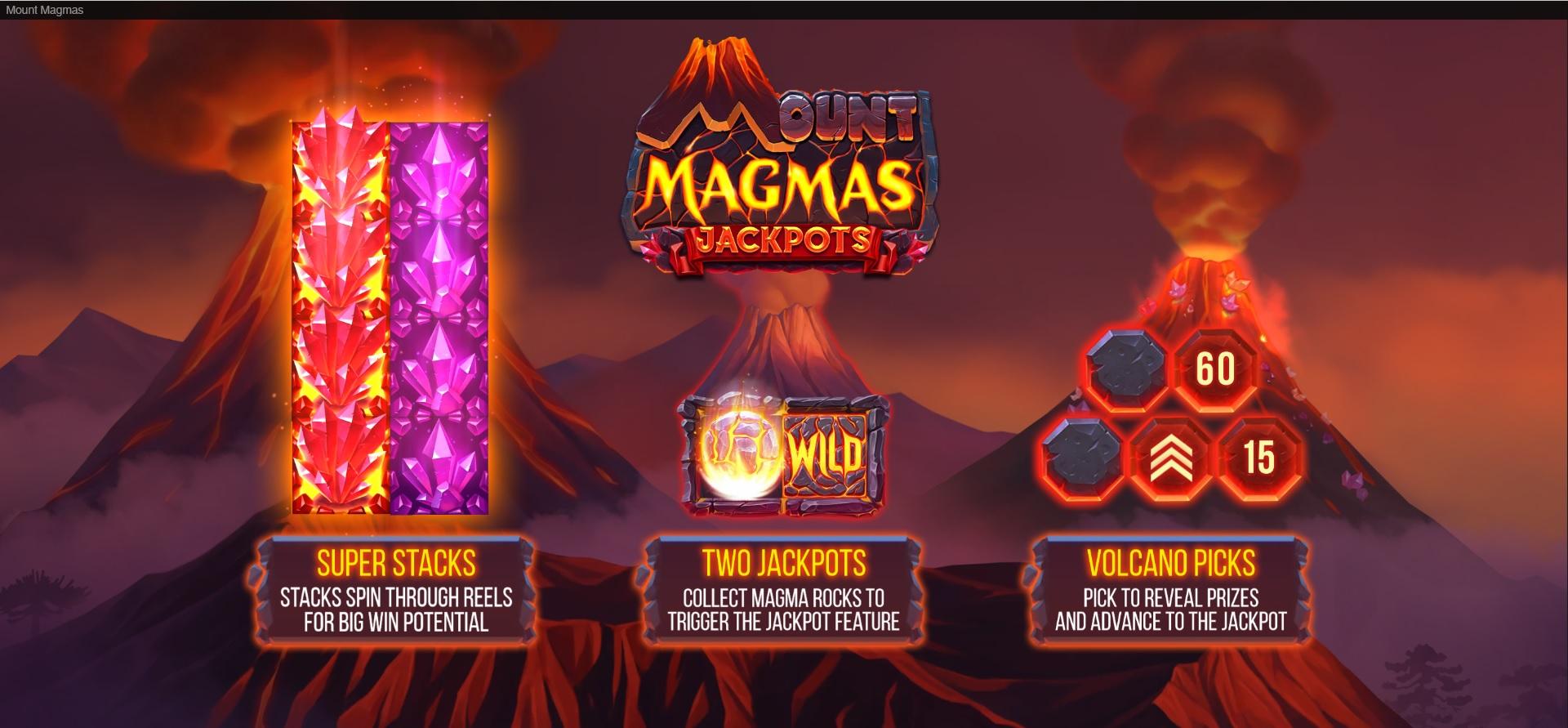 How to win big in Mount Magmas – Volcano Bonus feature