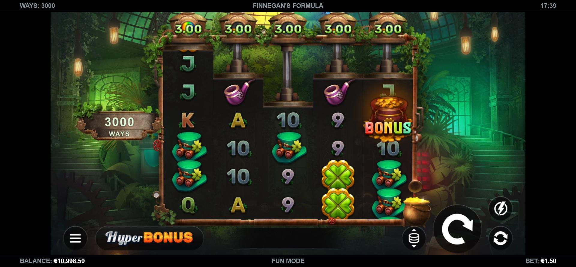 Finnegan's Formula by Kalamba Games Reels during main game