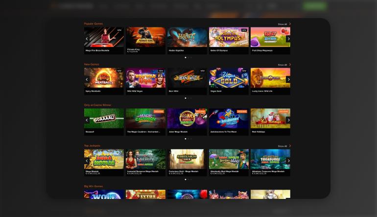 Playing at Casino Winner