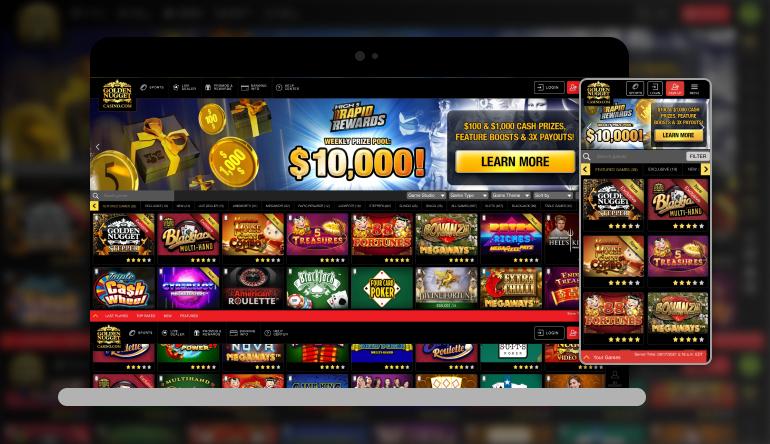 Image showing Golden Nugget Online Casino on mobile and desktop