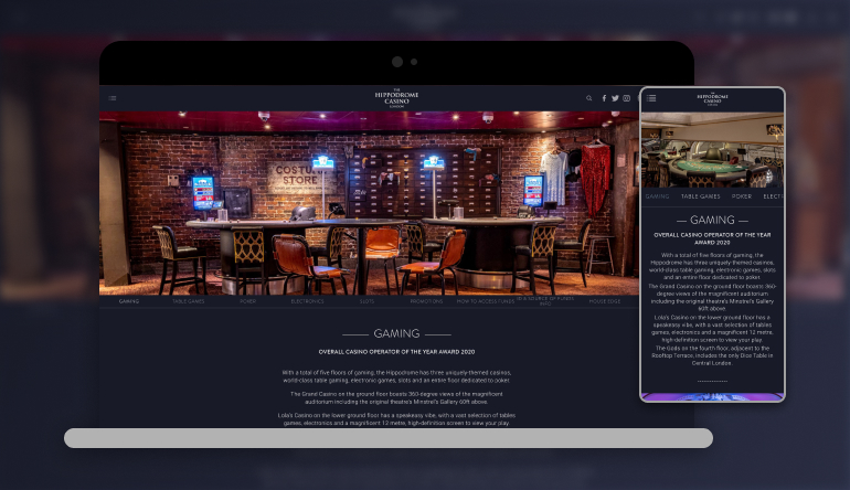 Image showing Hippodrome Casino on mobile and desktop