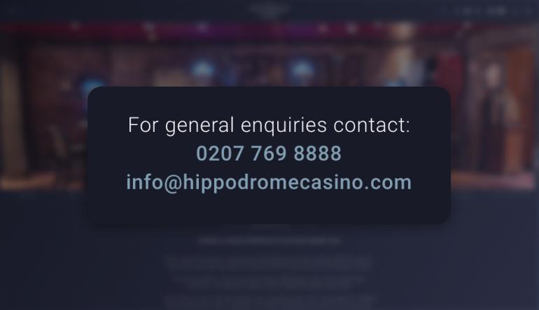 Hippodrome Online Casino Customer Support