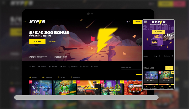 Image showing Hypercasino  on mobile and desktop