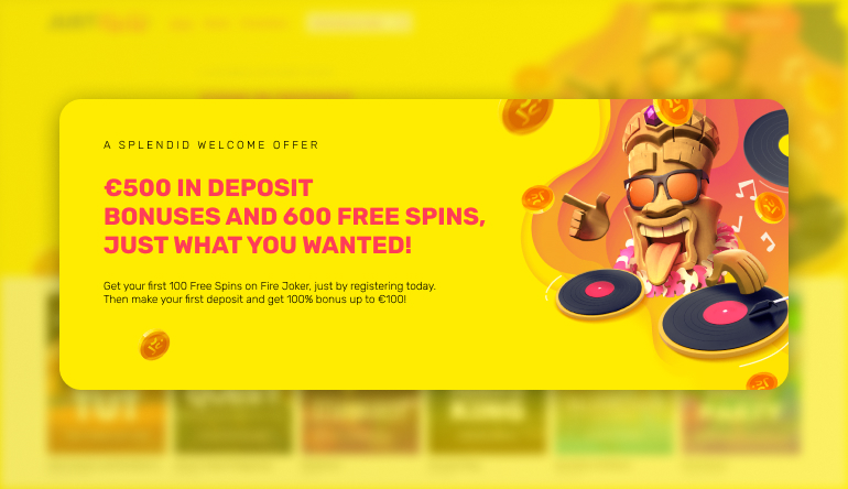 welcome offer at justspin casino