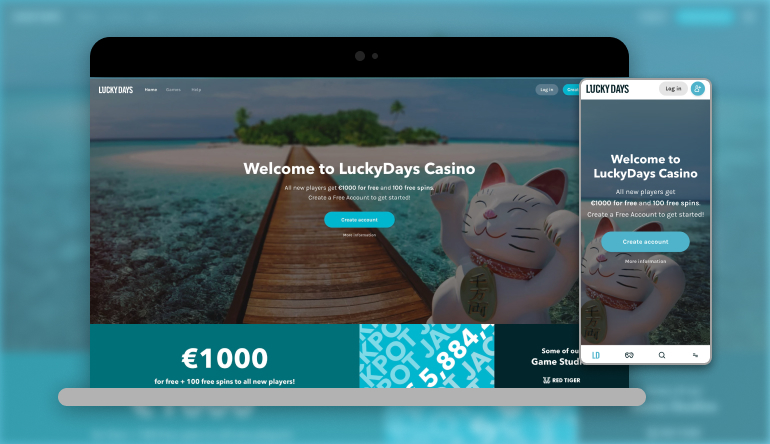 Image showing Lucky Days Casino  on mobile and desktop