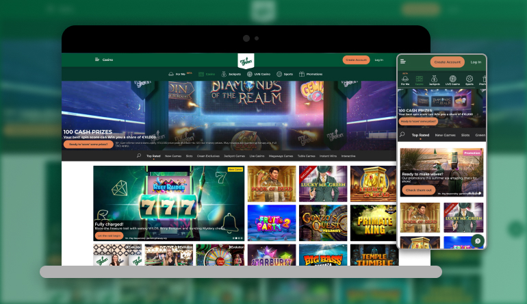 Image showing Mr Green  on mobile and desktop