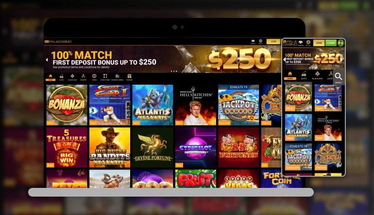 Image showing Pala Casino on mobile and desktop