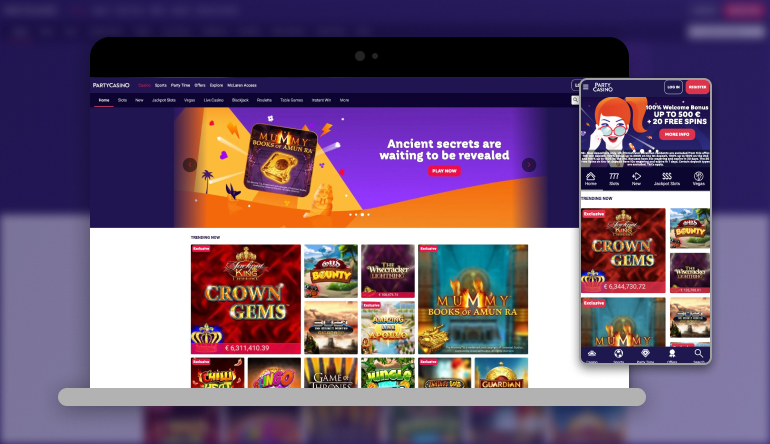 Image showing Partycasino  on mobile and desktop
