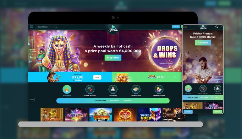 Image showing Spela on mobile and desktop