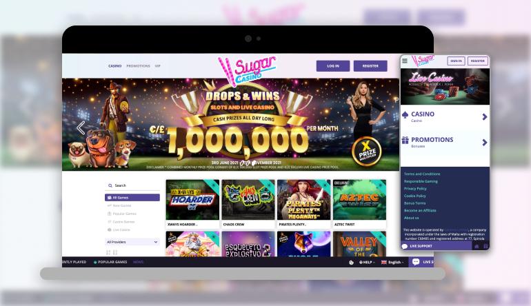 Image showing Sugar Casino on mobile and desktop