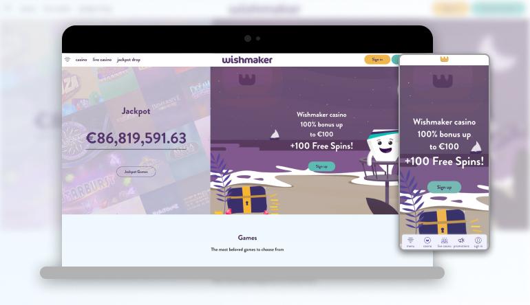 Image showing Wishmaker  on mobile and desktop
