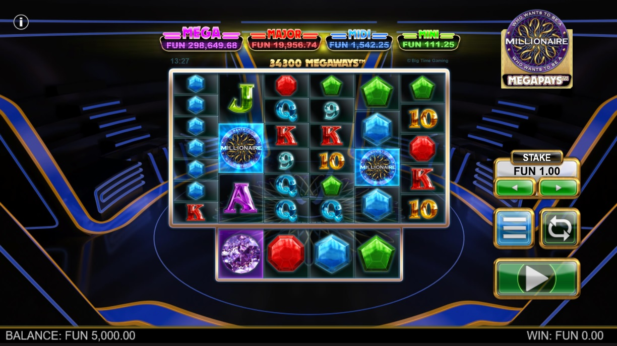 Who Wants to Be A Millionaire Megapays by Big Time Gaming