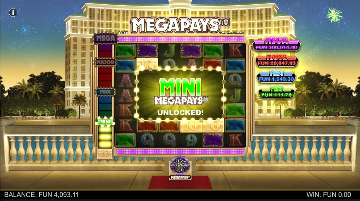 Who Wants to be a Millionaire Megapays Win Mini Jackpot