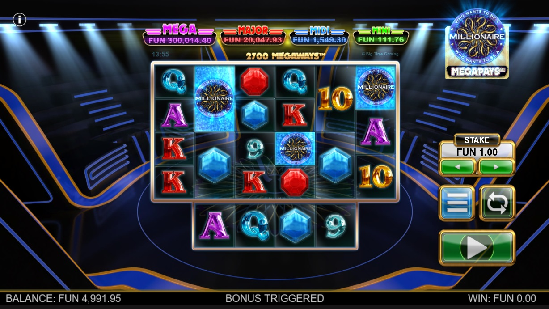 Millionaire Megapays free spins trigger
