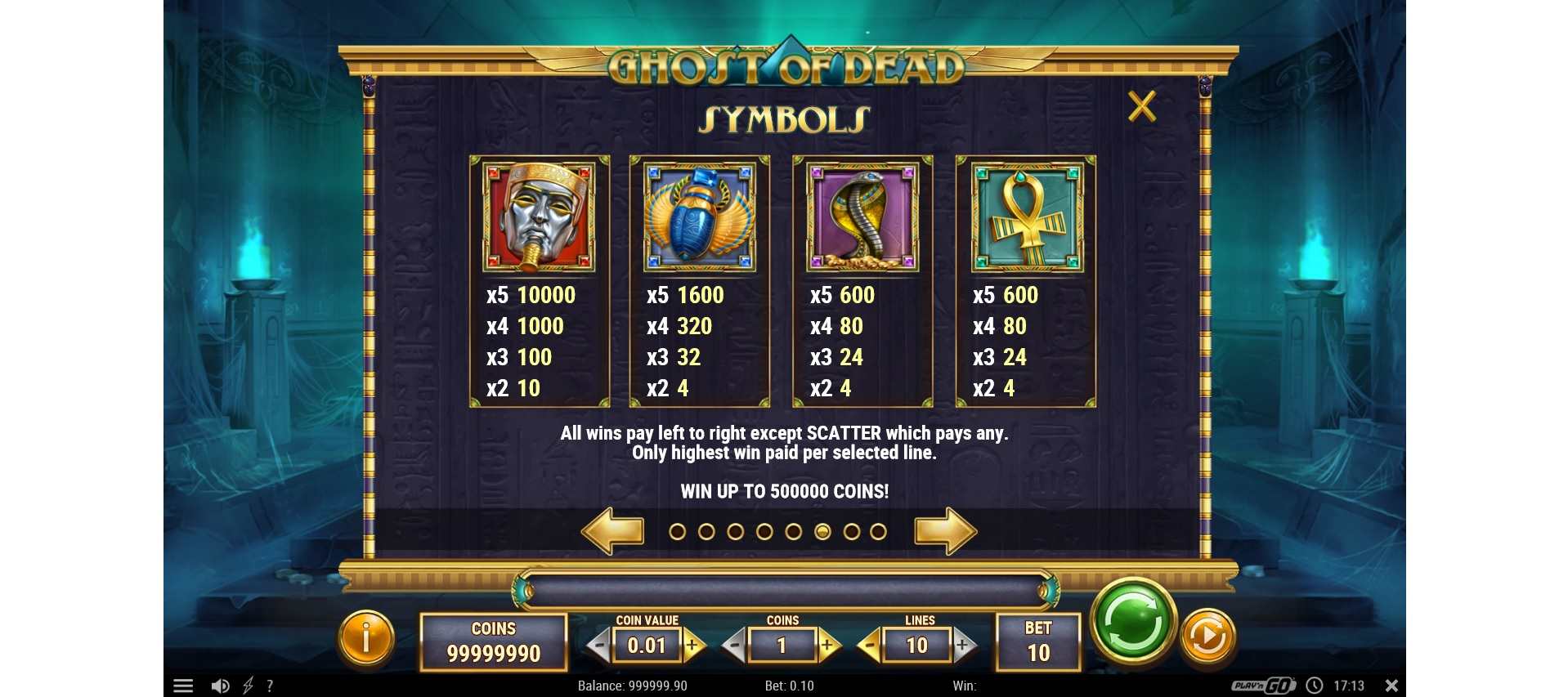 High-value symbols Ghost of dead