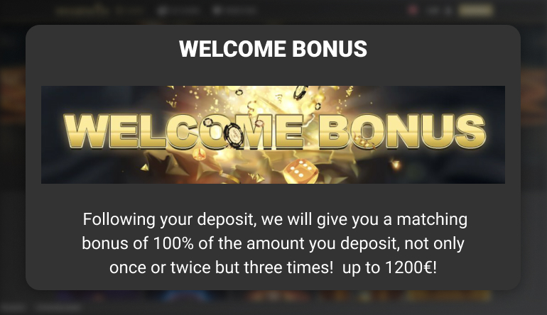 welcome offer at woopwin casino