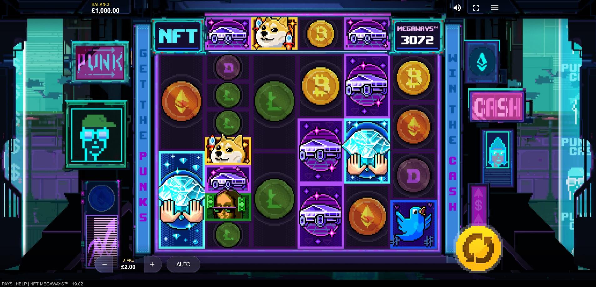 NFT Megaways main game