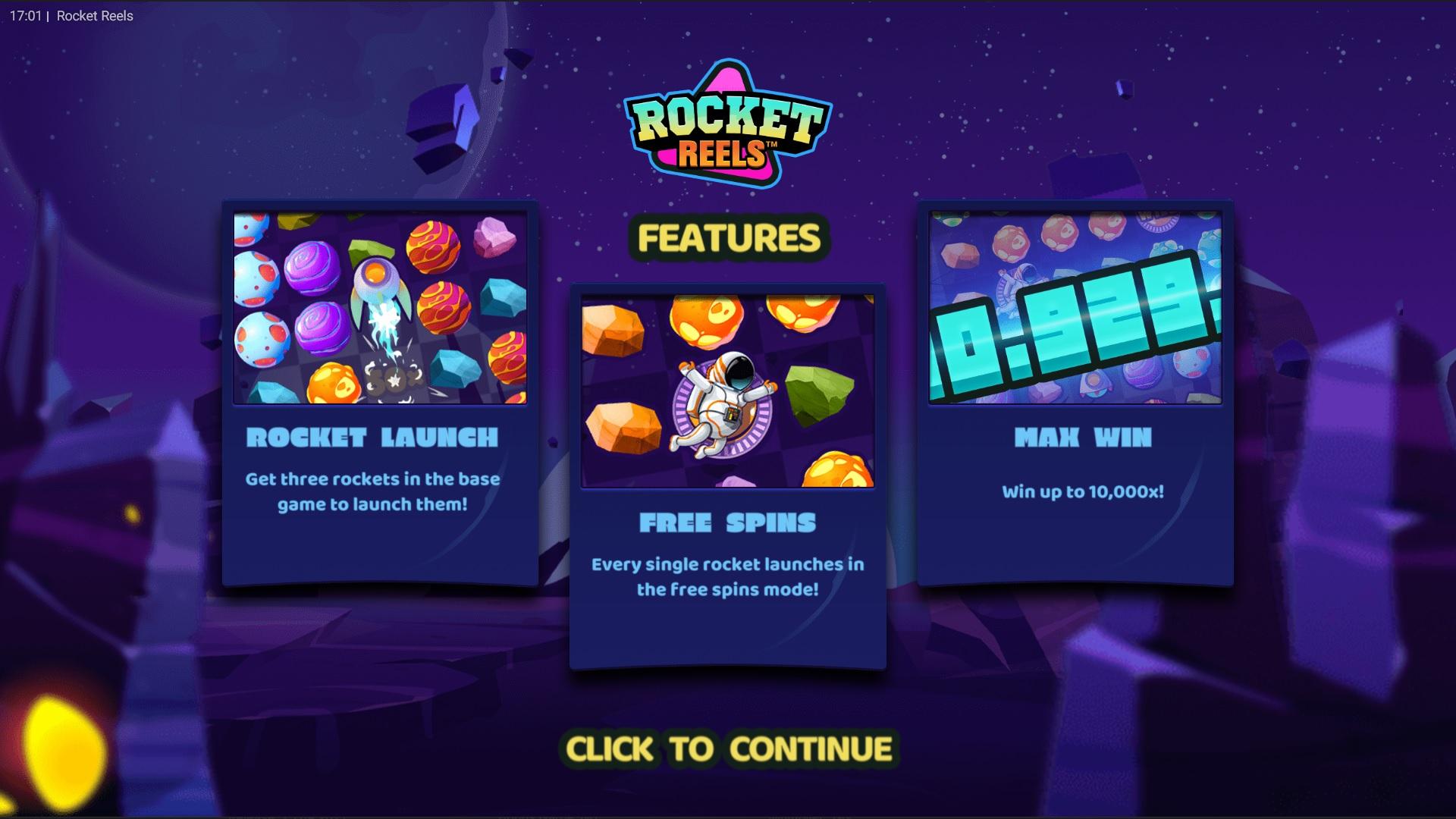 Special Features in Rocket Reel