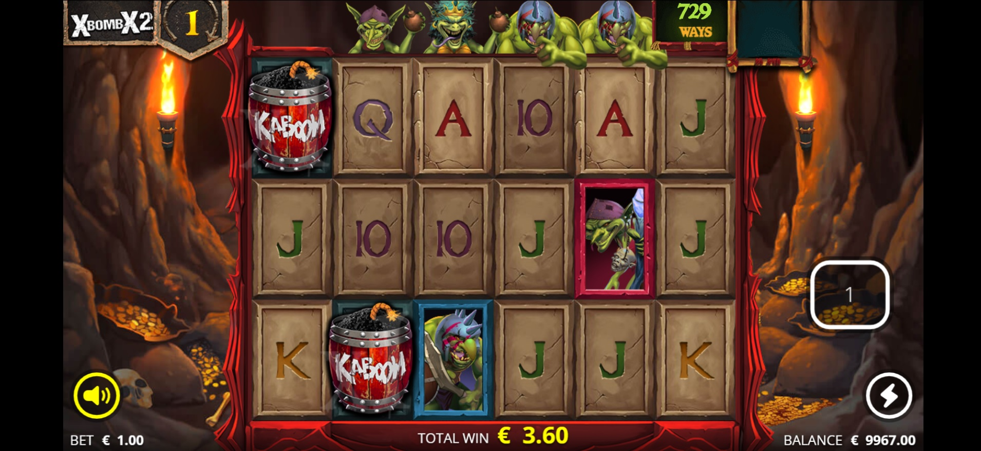 Evil Goblins - Big win during reel spin