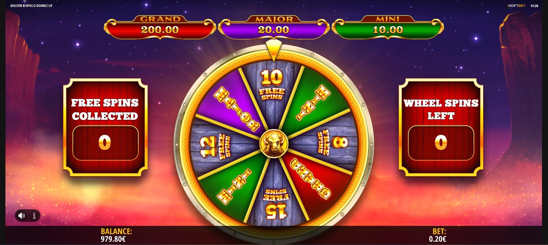 How to win big in Golden Buffalo: Double Up – Bonus Wheel