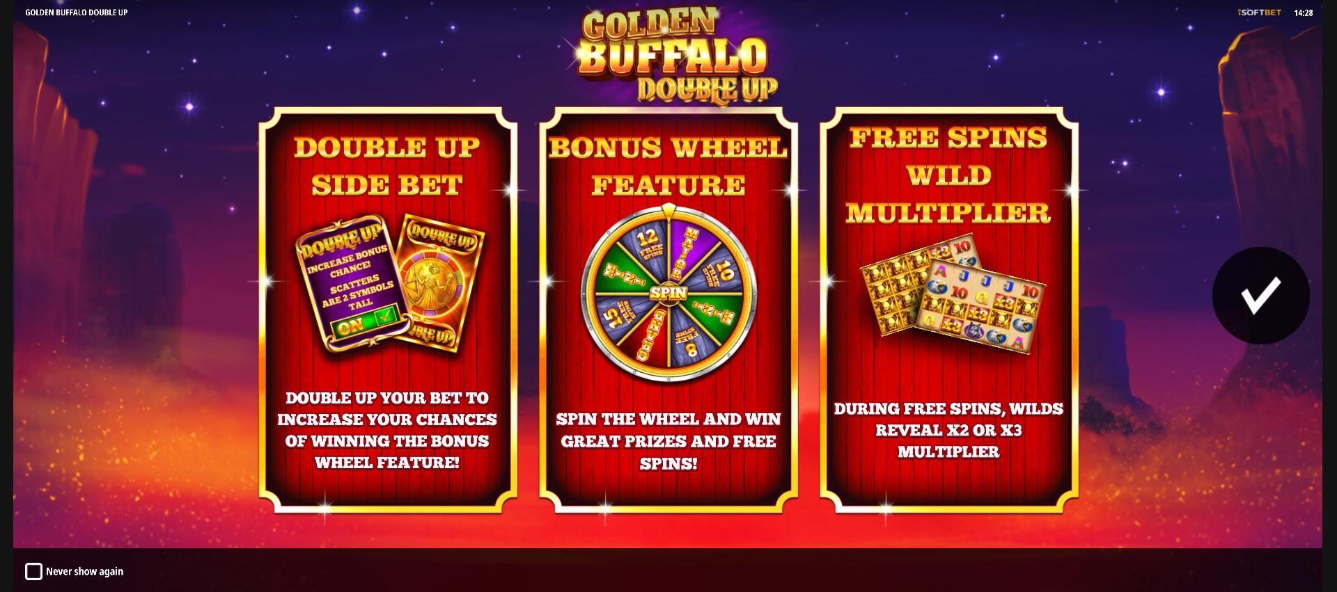 Golden Buffalo: Double Up – Splash Screenl