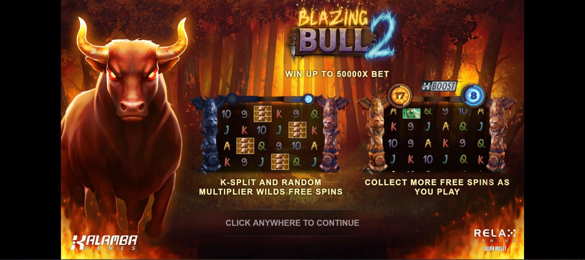 Blazing Bull 2 Splash Screen