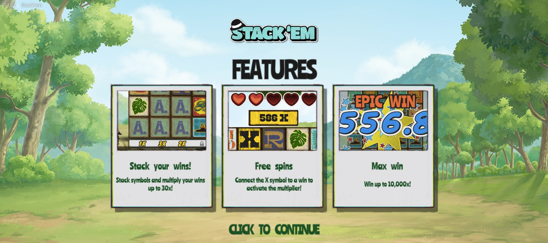 Special Features in stack em from hacksaw gaming