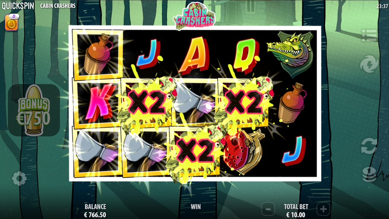 Cabin Crashers Multipier during main game