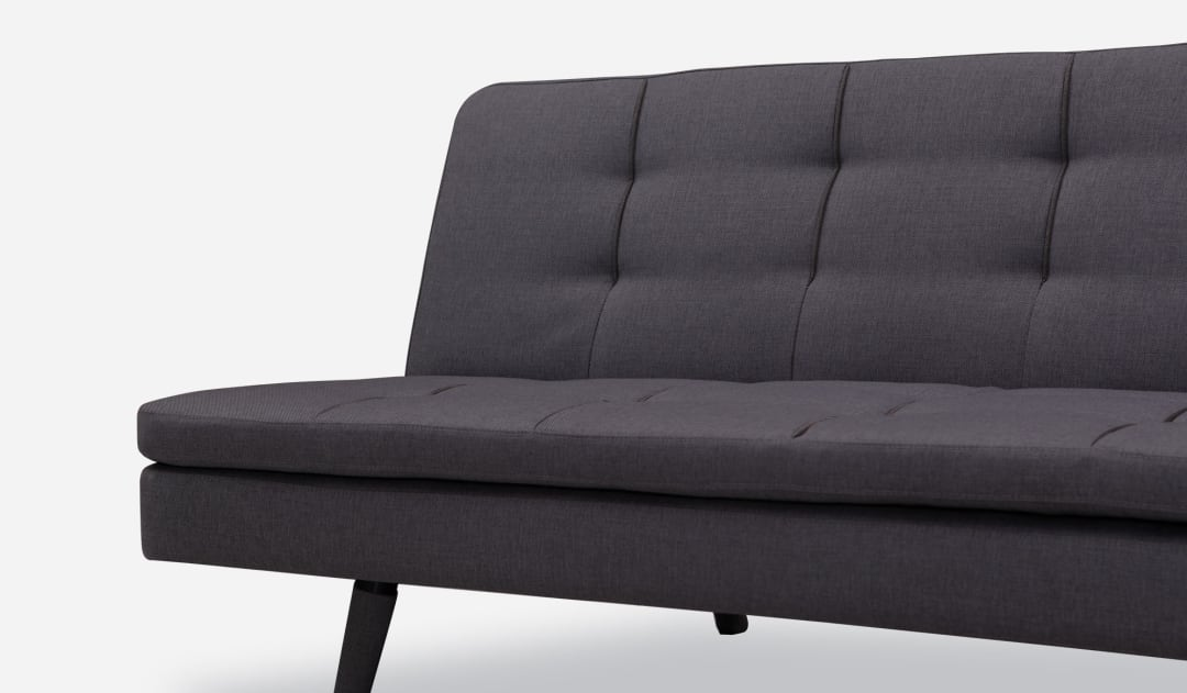 Frances Sofa Bed Coal Black Castlery Singapore