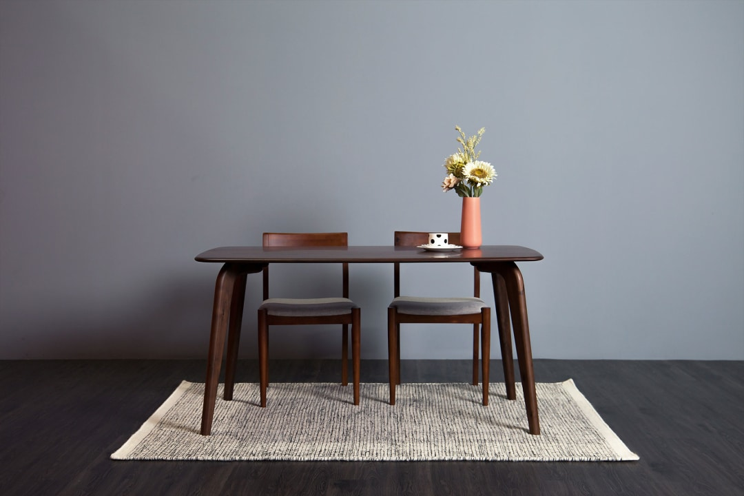 Vincent Dining Table Cm Castlery Singapore - Slim dining table with bench