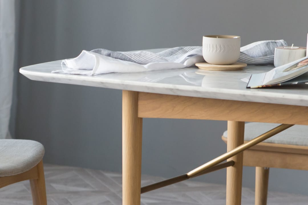 Chelsea Marble Dining Table 160cm Castlery Singapore