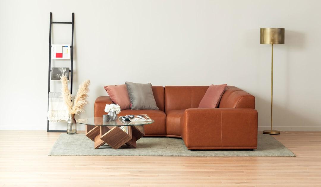 Remarkable Todd Sectional Sofa Leather Inzonedesignstudio Interior Chair Design Inzonedesignstudiocom