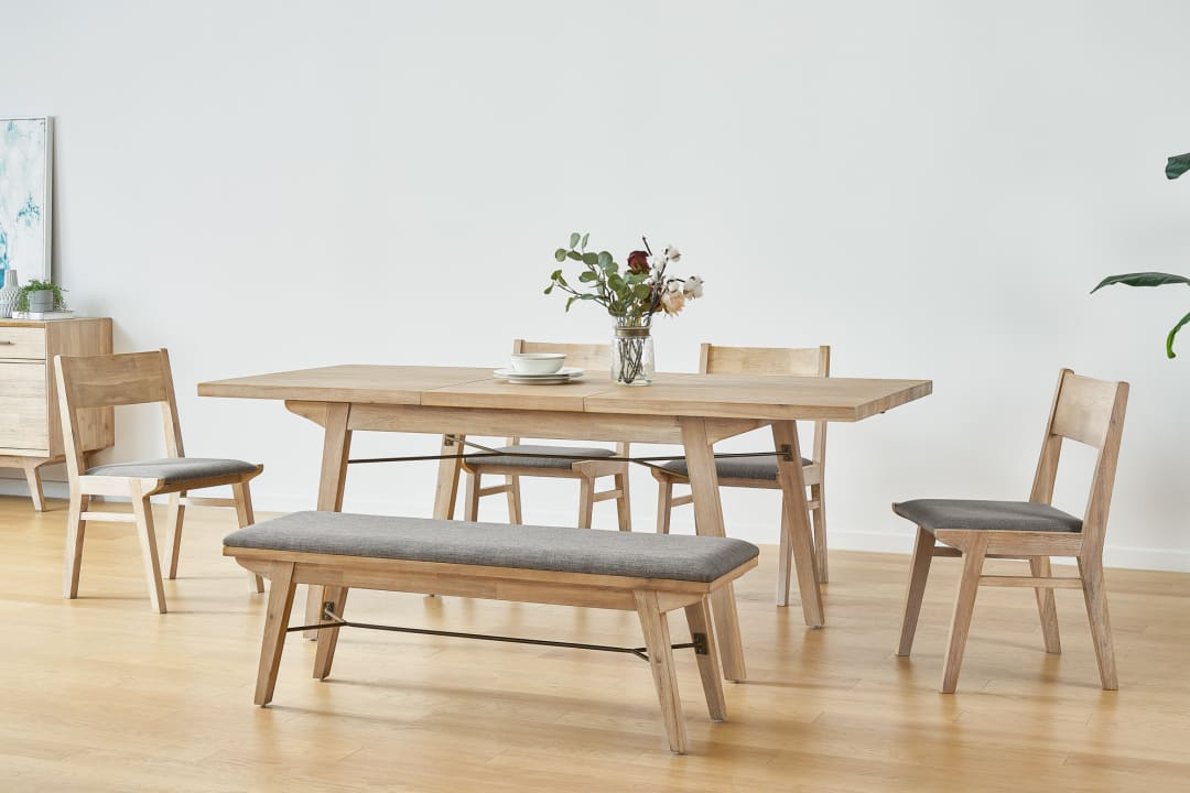 Miles Extendable Dining Table With Bench And 2 Chairs Castlery United States