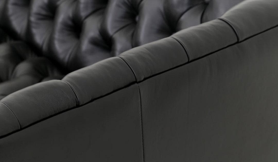 Penny Sofa Leather Black Base C1
