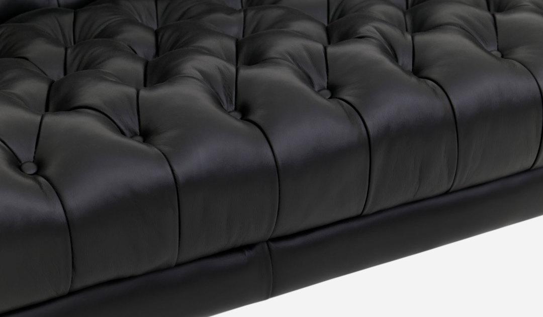 Amazing Penny Sofa Leather Black Base SB1