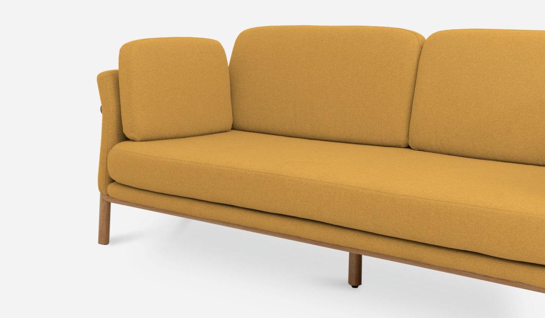 yellow furniture. Bambu-sofa-base-canary-yellow-SB1 Yellow Furniture