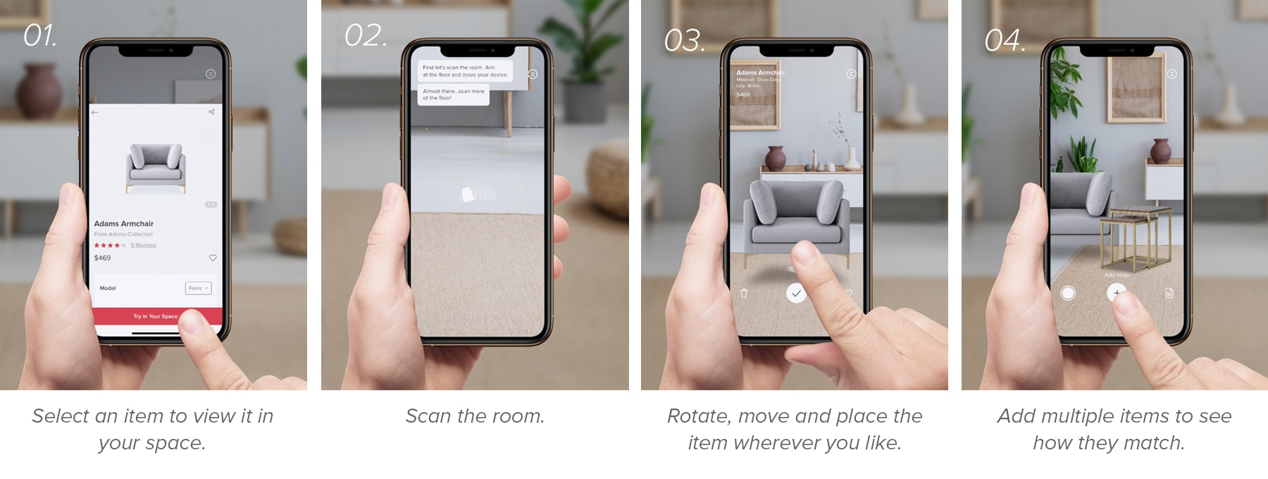 home decorating AR app