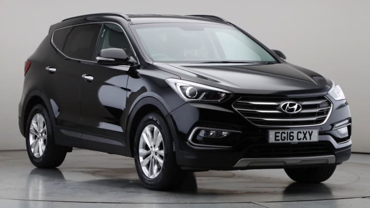 2016 Used Hyundai Santa Fe 2.2L Premium Blue Drive CRDi